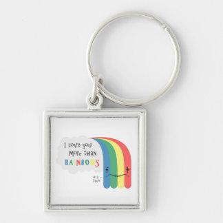 I  Love You More Than Rainbows Key Ring