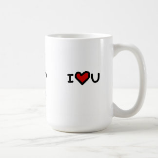 """I love you more than tea"" Basic White Mug"