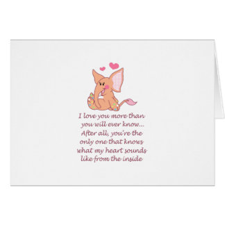 I Love You More Than You Greeting Card