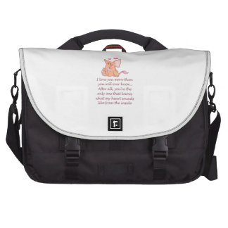 I Love You More Than You Laptop Commuter Bag