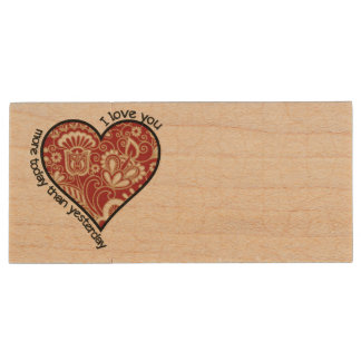 I Love You More Today Wood USB 3.0 Flash Drive
