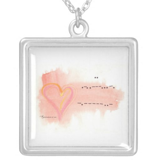 """""""I LOVE YOU"""" Morse Code Necklace by Brownielocks"""