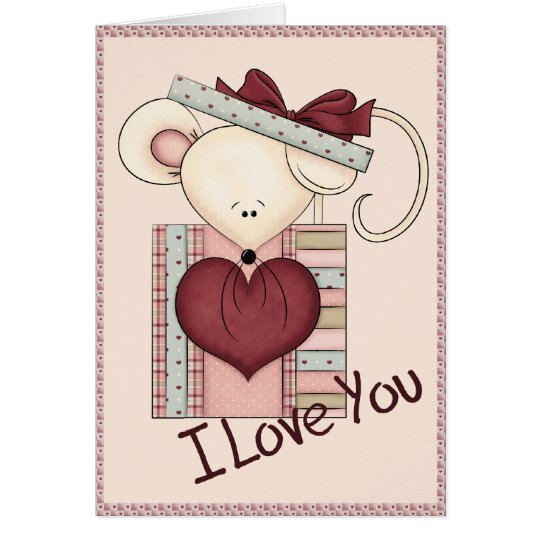 I Love You Mouse Card