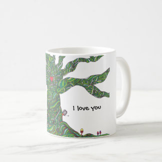 I love you mug with tree