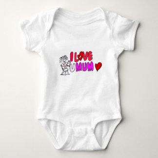 I Love You Mum Baby Bodysuit