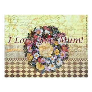 """I Love you Mum"" Postcard"