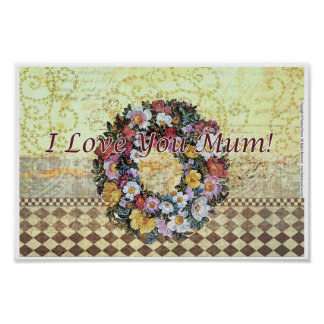 """I love you mum"" Poster 30 cm x 20 cm"