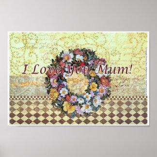 """I love you mum"" Poster 30 cm x 20 cm"