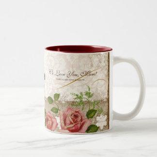 I Love You Mum, Vintage English Roses Mug