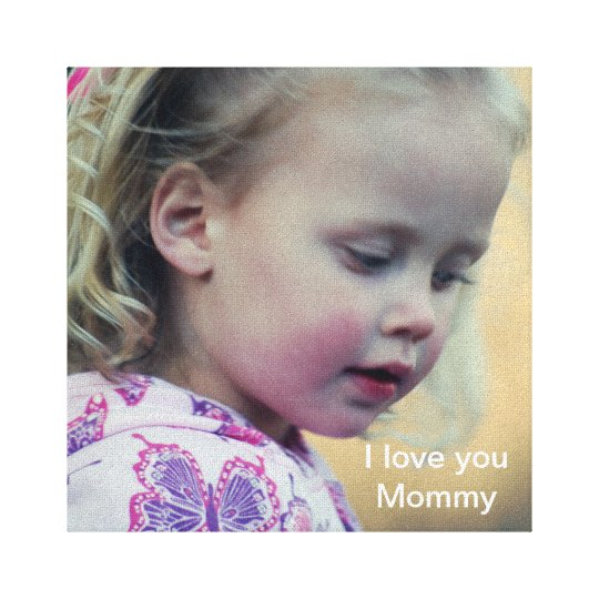 I love you Mummy Canvas Print