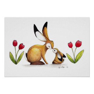 I love you Mummy Hare Poster