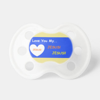 'I Love You My Jesus' Baby Pacifier