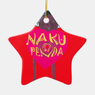 I love you Nakupenda Kenya Swahili Art Ceramic Star Decoration