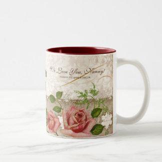 I Love You Nanny, Vintage English Roses Mug