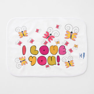 """I love you"" note, best gift ideas Burp Cloth"