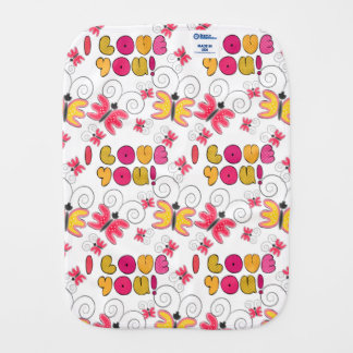"""""""I love you"""" note, best gift ideas Burp Cloth"""