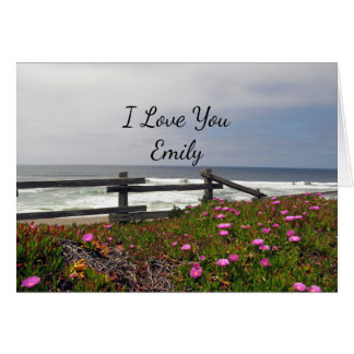 I Love You Ocean Flowers Note Card