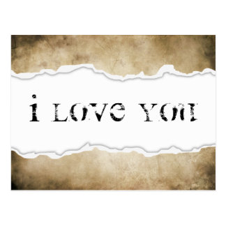 i love you page rip postcard