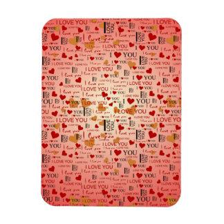 I Love You Pattern Vinyl Magnet