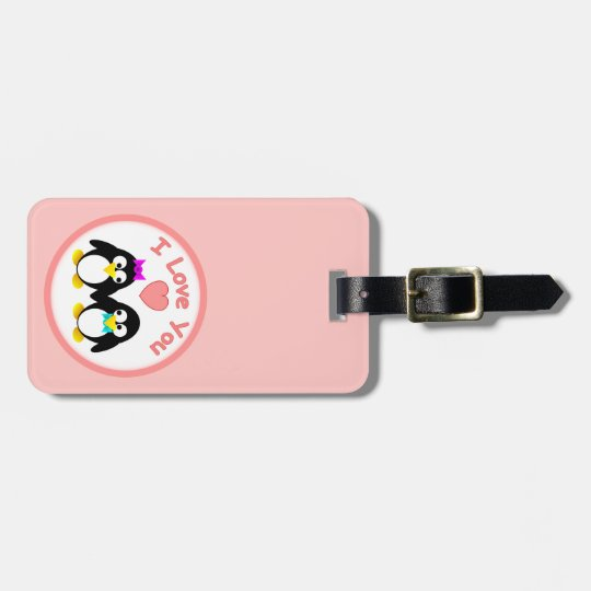 I Love You, Penguin Luggage Tag