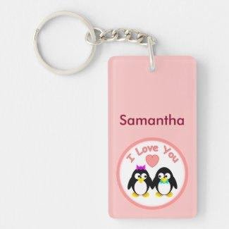 Personalised Penguin Keyring