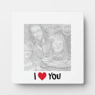 I Love You Photo Plaque