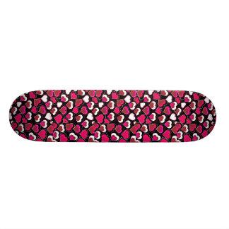 I Love You Pink & White Hearts 20 Cm Skateboard Deck