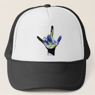I Love You Planet Earth Hat