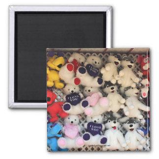 I Love You Plush Bear Photo Magnet