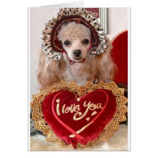 I Love You Poodle Dog Card