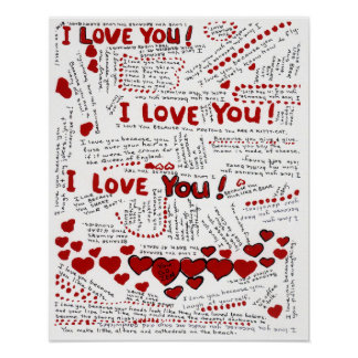 I love you! poster