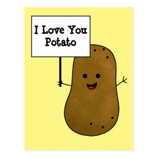 I Love You Potato Postcard