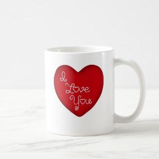 I Love You Red Heart Coffee Mug 11 oz