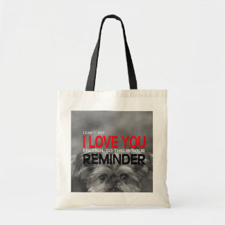 I Love You Reminder Brussels Griffon Puppy Tote