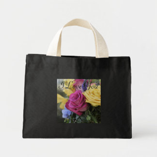 I love you roses tote bag