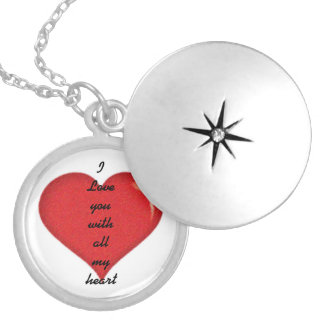 I Love you Round Locket Necklace