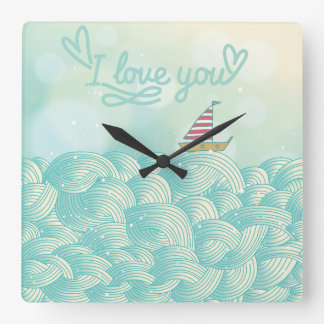 I Love You Sailboat Clock