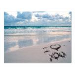 I Love You, Sand Writing on the Beach