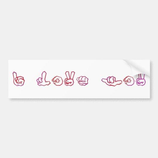 I love you sign language bumper sticker