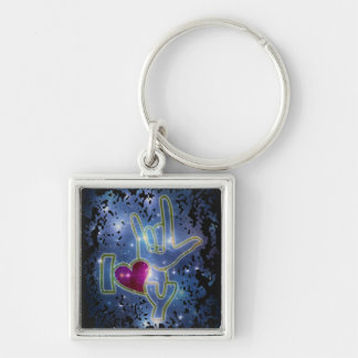I LOVE YOU / sign language Key Ring