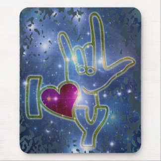 I LOVE YOU / sign language Mousepad