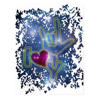 I LOVE YOU / sign language Postcard