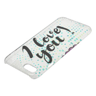 I love you sign with cute  and rustic iPhone 7 case