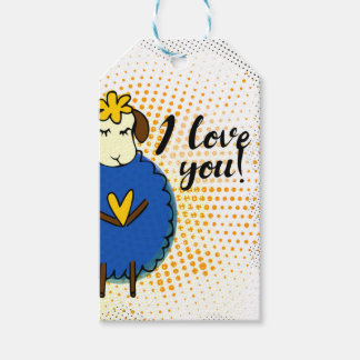"""I love you"" sign with graphic Gift Tags"