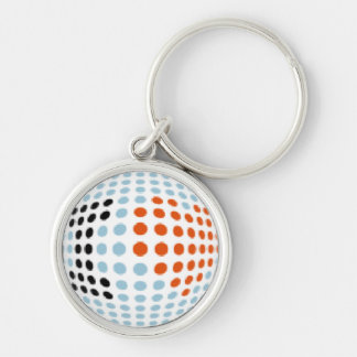 I Love You Silver-Colored Round Key Ring