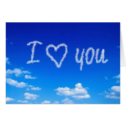 """""""I Love You"""" sky writing Card"""