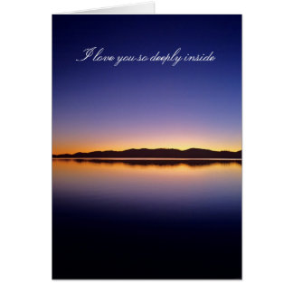 I love you so deeply inside greeting card