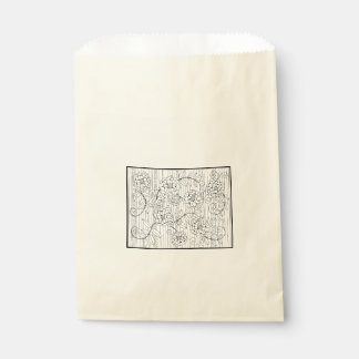I Love You So Much Line Art Design Favour Bags
