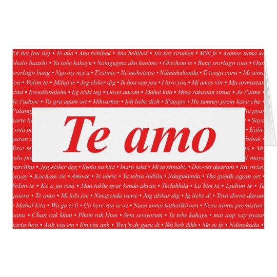 I Love You (Spanish) Customisable Card