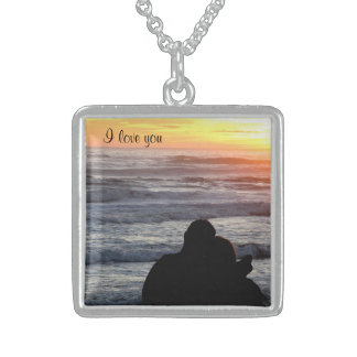 'I love you' Square Necklace